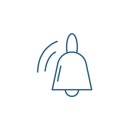 Bell line concept icon. Bell flat  vector website sign, outline symbol, illustration.