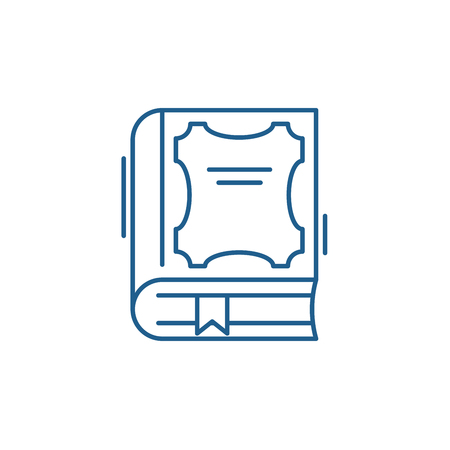 Best book line concept icon. Best book flat  vector website sign, outline symbol, illustration.