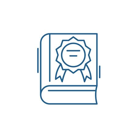 Best seller line concept icon. Best seller flat  vector website sign, outline symbol, illustration. 스톡 콘텐츠 - 119919238