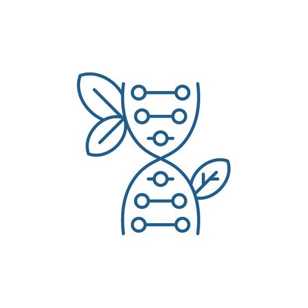 Icône de concept de ligne de biologie. Signe de site Web de vecteur plat de biologie, symbole du contour, illustration. Vecteurs