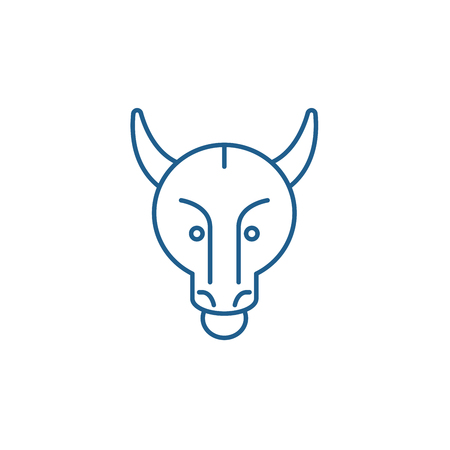 Bullish trend line concept icon. Bullish trend flat  vector website sign, outline symbol, illustration. Фото со стока - 119919013