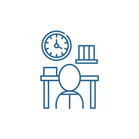 Bureaucracy line concept icon. Bureaucracy flat  vector website sign, outline symbol, illustration.