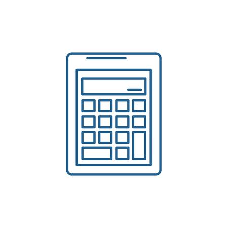 Business calculation  line concept icon. Business calculation  flat  vector website sign, outline symbol, illustration.