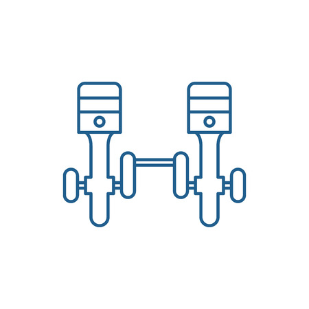 Car wheels line concept icon. Car wheels flat  vector website sign, outline symbol, illustration.