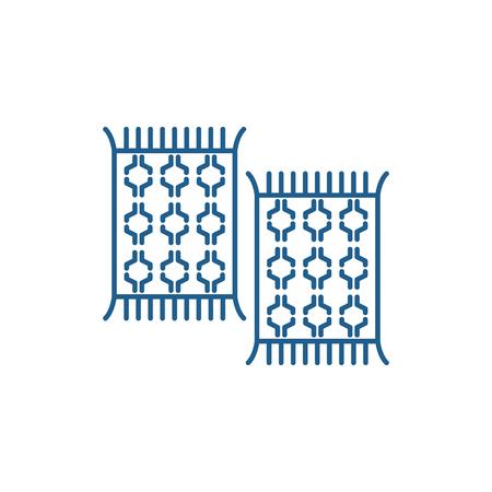 Carpets line concept icon. Carpets flat  vector website sign, outline symbol, illustration.