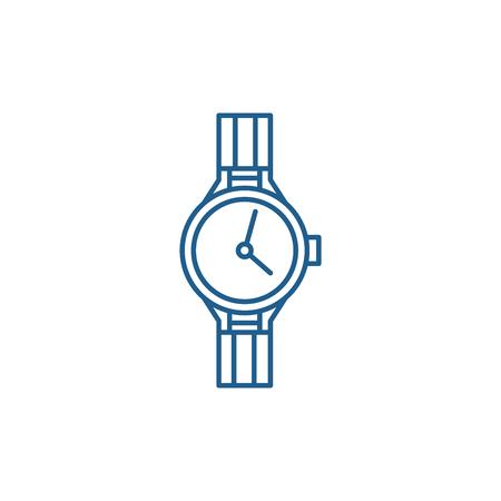 Chronometer line concept icon. Chronometer flat  vector website sign, outline symbol, illustration.
