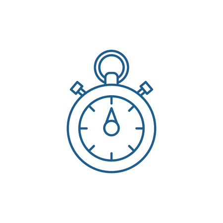 Chronoscope line concept icon. Chronoscope flat  vector website sign, outline symbol, illustration. Archivio Fotografico - 119917414
