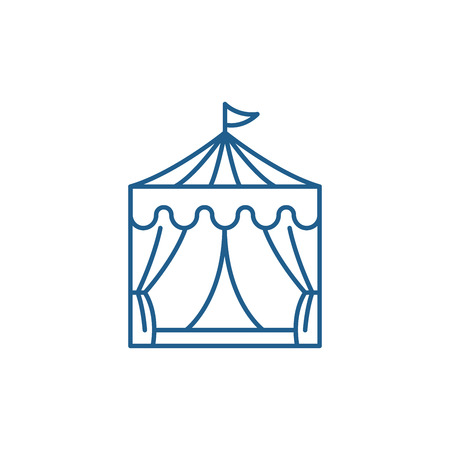 Circus line concept icon. Circus flat  vector website sign, outline symbol, illustration.