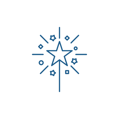 Christmas cute lights line concept icon. Christmas cute lights flat  vector website sign, outline symbol, illustration.