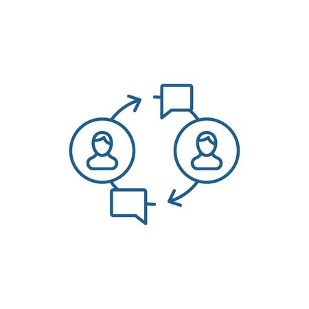 Community line concept icon. Community flat  vector website sign, outline symbol, illustration.