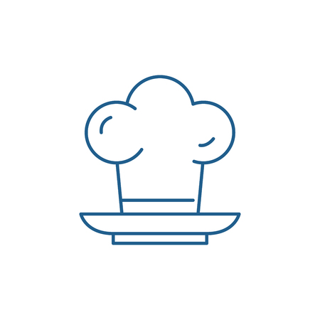 Cooker line concept icon. Cooker flat  vector website sign, outline symbol, illustration.