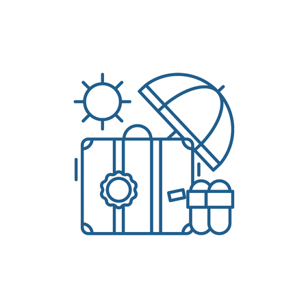 Cruise line concept icon. Cruise flat  vector website sign, outline symbol, illustration.