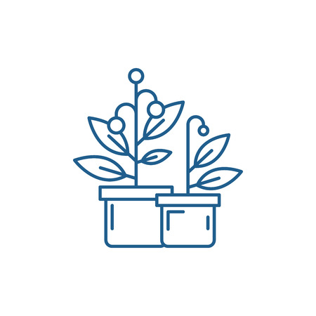 Cruise ship line concept icon. Cruise ship flat  vector website sign, outline symbol, illustration. Illustration