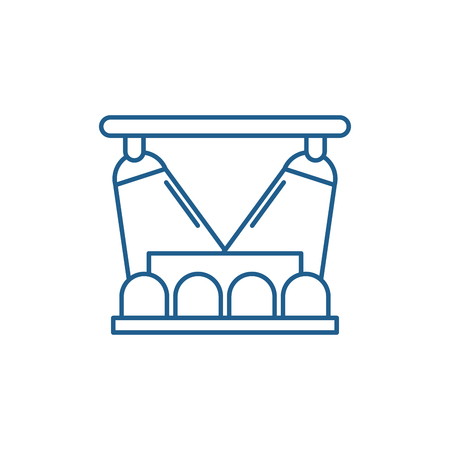 Concert show line concept icon. Concert show flat  vector website sign, outline symbol, illustration. Stock Illustratie