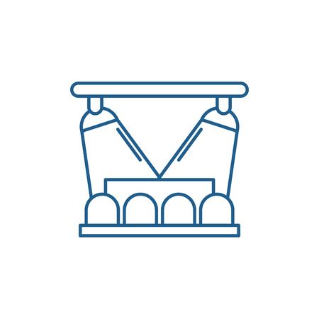 Concert show line concept icon. Concert show flat  vector website sign, outline symbol, illustration. Illustration