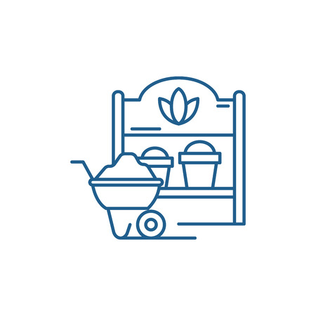 Country house line concept icon. Country house flat  vector website sign, outline symbol, illustration. Illustration