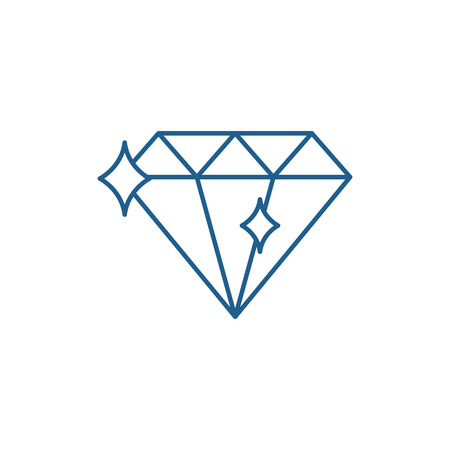 Diamond line concept icon. Diamond flat  vector website sign, outline symbol, illustration.