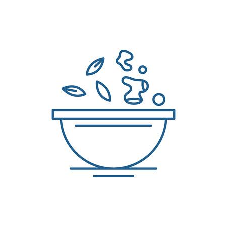 Diet food line concept icon. Diet food flat  vector website sign, outline symbol, illustration. Foto de archivo - 119915878