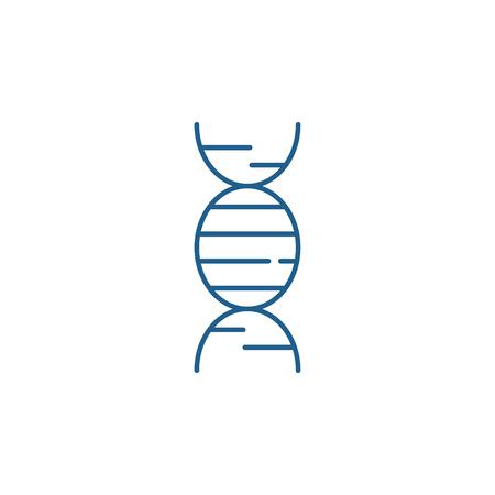 Dna line concept icon. Dna flat  vector website sign, outline symbol, illustration.