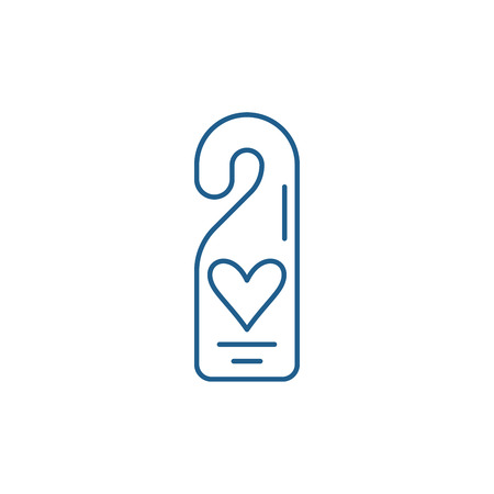 Do not disturb line concept icon. Do not disturb flat  vector website sign, outline symbol, illustration.  イラスト・ベクター素材
