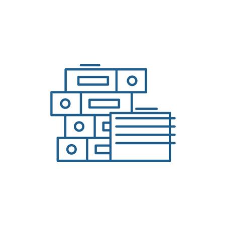 Documentation line concept icon. Documentation flat  vector website sign, outline symbol, illustration.