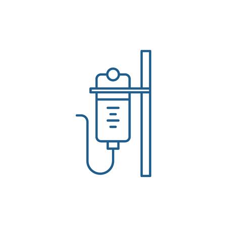 Dropper line concept icon. Dropper flat  vector website sign, outline symbol, illustration. Illustration