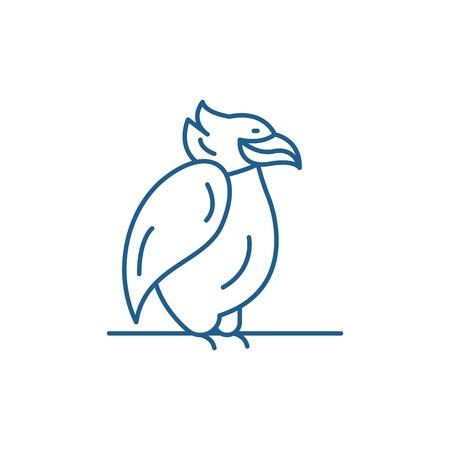 Emperor penguin line concept icon. Emperor penguin flat  vector website sign, outline symbol, illustration.