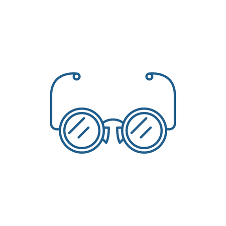 Eyeglasses line concept icon. Eyeglasses flat  vector website sign, outline symbol, illustration. 일러스트