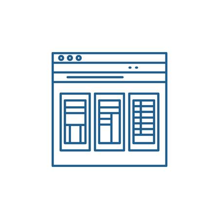 Financial statements line concept icon. Financial statements flat  vector website sign, outline symbol, illustration.