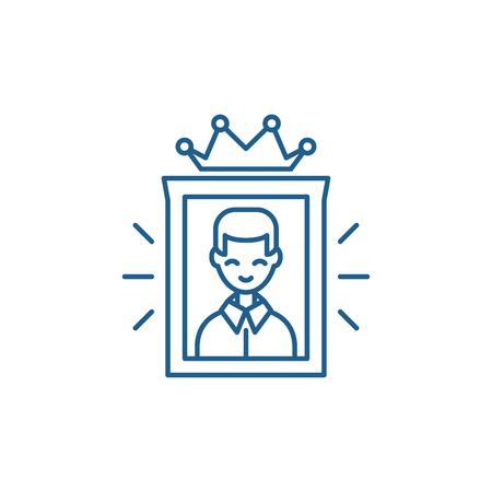 Excellent line concept icon. Excellent flat  vector website sign, outline symbol, illustration. Illustration