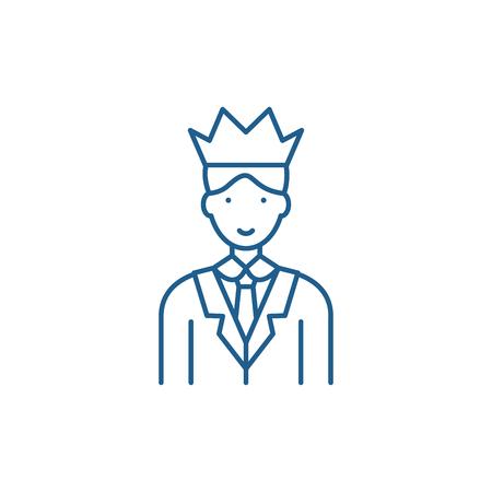 Expert line concept icon. Expert flat  vector website sign, outline symbol, illustration.
