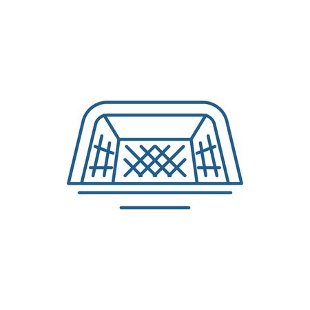 Foot gates line concept icon. Foot gates flat  vector website sign, outline symbol, illustration.