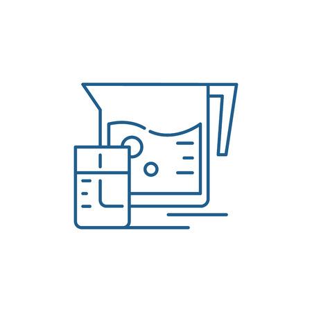 Fresh juice line concept icon. Fresh juice flat  vector website sign, outline symbol, illustration. Illustration