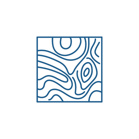 Floorboard line concept icon. Floorboard flat  vector website sign, outline symbol, illustration. Stock Illustratie