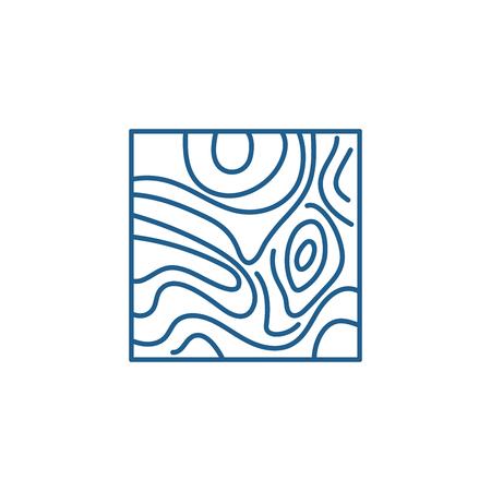 Floorboard line concept icon. Floorboard flat  vector website sign, outline symbol, illustration. Illustration