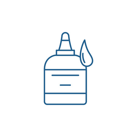 Glue line concept icon. Glue flat  vector website sign, outline symbol, illustration. Иллюстрация