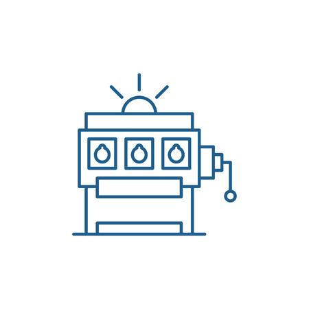 Gambling line concept icon. Gambling flat  vector website sign, outline symbol, illustration.