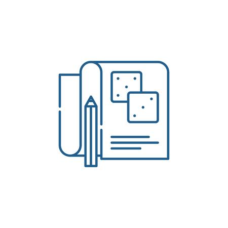 Game account line concept icon. Game account flat  vector website sign, outline symbol, illustration. Reklamní fotografie - 119907932