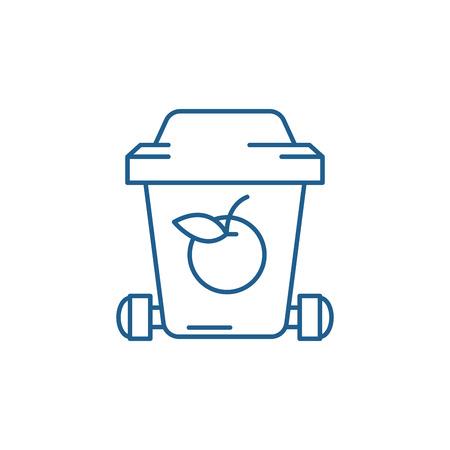Symbol für das Konzept des Müllrecyclings. Abfallrecycling flaches Vektor-Website-Zeichen, Umrisssymbol, Illustration. Vektorgrafik