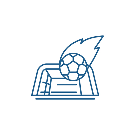 Goal line concept icon. Goal flat  vector website sign, outline symbol, illustration.