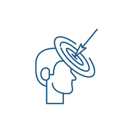 Goalkeeping line concept icon. Goalkeeping flat  vector website sign, outline symbol, illustration.