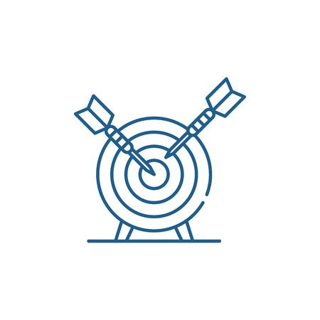 Goalkeeping system line concept icon. Goalkeeping system flat  vector website sign, outline symbol, illustration.