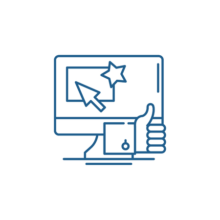 Great choice line concept icon. Great choice flat  vector website sign, outline symbol, illustration. Illusztráció
