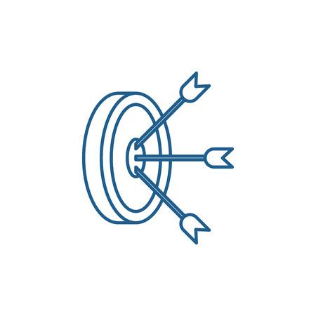Klicken Sie auf das Symbol für das Markierungslinienkonzept. Schlagen Sie das flache Vektor-Website-Zeichen der Marke, das Umrisssymbol, die Illustration.