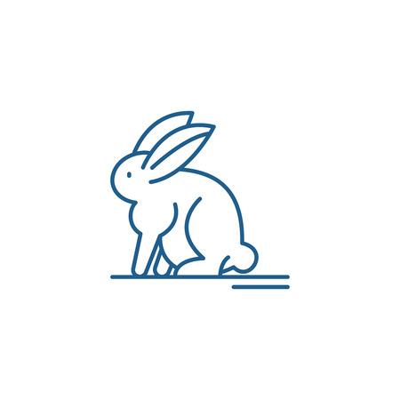 Hare line concept icon. Hare flat  vector website sign, outline symbol, illustration. Illustration