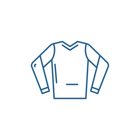 Hoodie line concept icon. Hoodie flat  vector website sign, outline symbol, illustration. Stok Fotoğraf - 119908348