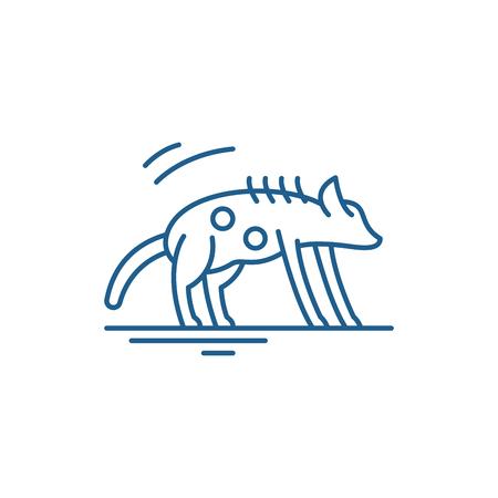 Hyena line concept icon. Hyena flat  vector website sign, outline symbol, illustration. Illustration