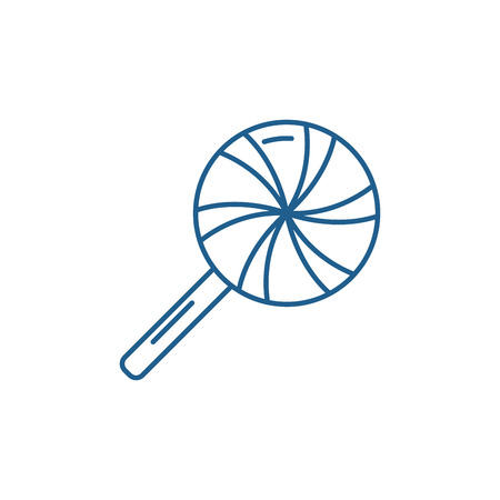 Icicle line concept icon. Icicle flat  vector website sign, outline symbol, illustration.