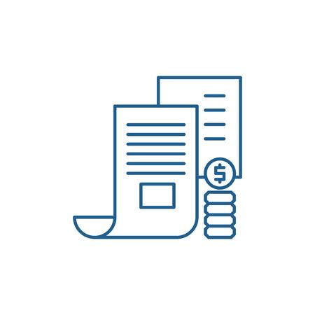 Investor memorandum line concept icon. Investor memorandum flat  vector website sign, outline symbol, illustration.