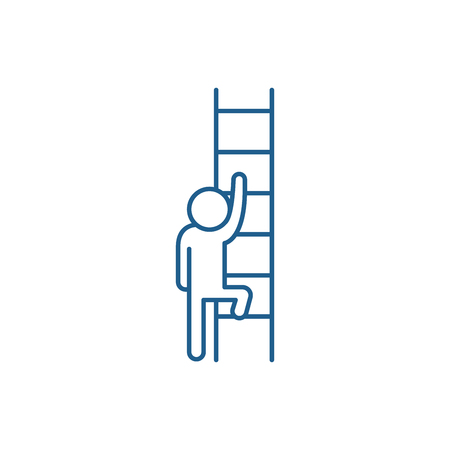 Ladder of opportunity line concept icon. Ladder of opportunity flat  vector website sign, outline symbol, illustration.